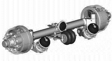 SPECIAL FOR CANADA: Dana Spicer's new self-steering trailer axle.