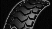 SERPENTINE TREAD: This design simplifies the retread application for a diverse number of OTR equipment according to Bandag.