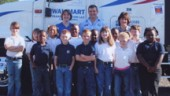 Trucker Buddy Chris Jones, his wife Brenda (back row, left) and teacher Janet Blackwell (back row, right) with the second grade class at Simsboro High School in Simsboro, La., during the 2005-06 school year.