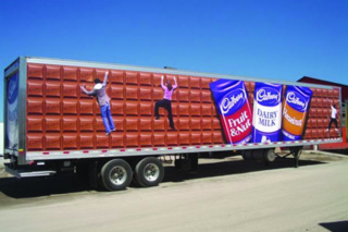 This trailer owned by Cadbury and designed by Motive Media Fleet Graphics won the Tractor-Trailer category.