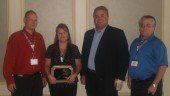 Dispatcher of the Year Award: Shawn Lynch, (spouse) Niki Brown (winner), Kim Richardson, and Kevin Link (GM of Elgin Motor Freight).