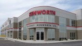 Kenworth's new 21,000 sq.-ft. full-service facility features 10 service bays and a five-tonne crane on four acres of land.