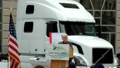 Gina McCarthy, US EPA Assistant Administrator for Air and Radiation, speaks in front of an EPA2010-ready Volvo VN780 on Sept. 29 during an event hosted by the Diesel Technology Forum in Washington, D.C.  The audience included government officials and lawmakers.