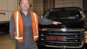 London, Ont.-based techician Robert Fulton is all smiles after winning his new GMC Sierra as part of Ryder System's 2009 Performance Challenge Program.