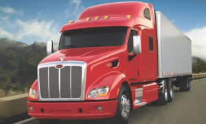 STANDARD DISCS: Peterbilt announced its new Model 587 is the first truck to come standard with air disc brakes on the steer axle.