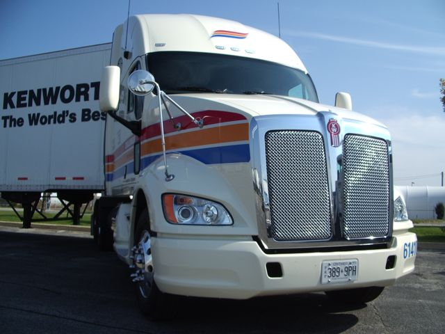 The Kenworth T700 being showcased on a cross-country road show is owned by Challenger Motor Freight.