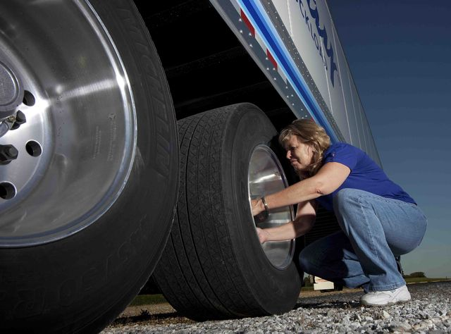 Michelin has sold one million X One wide-base single tires such as these ones.