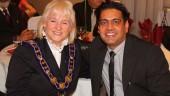 Avaal founder Dara Nagra with Brampton Mayor Susan Fennell.