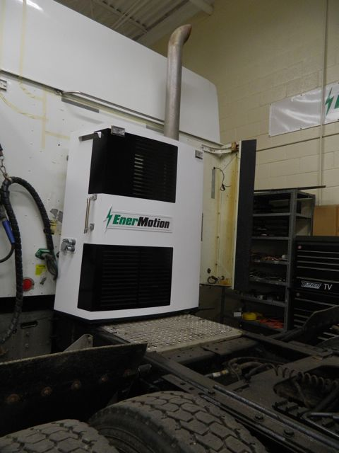 EnerMotion's Hyper unit provides 10 hours of heating, cooling and hotel-load power without any fuel consumption. It is now set for real-world test trials and has caught the attention of some notable fleets.