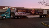 The 18 Wheels of Christmas tractor-trailer.