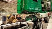 Employees assemble a Volvo VNL 780 at Volvo Trucks' New River Valley plant in Dublin, Va. The plant recently became the first US facility to achieve ISO 50001 certification.