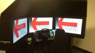 Kriska's simulator is used to provide refresher training for drivers.