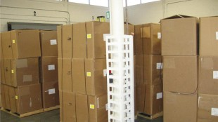 Some of the 132 boxes seized when Beaulieau was stopped at the Saint-Armand/Philipsburg border crossing.