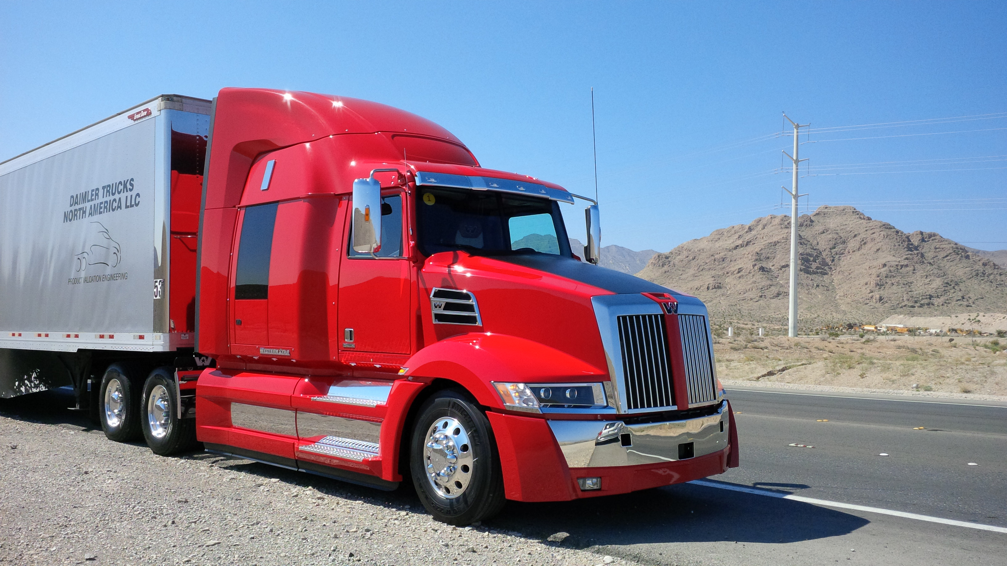 Driving the new Western Star 5700