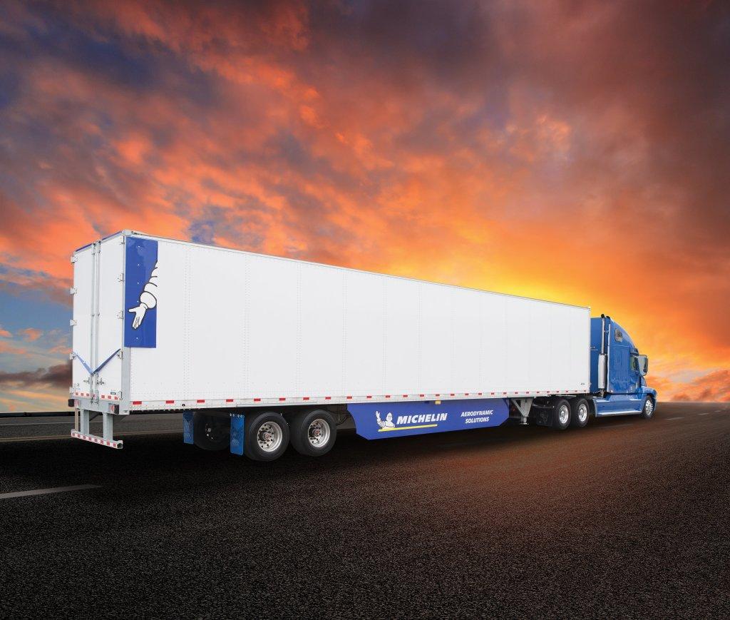 michelin introduces new x one  trailer aero kit
