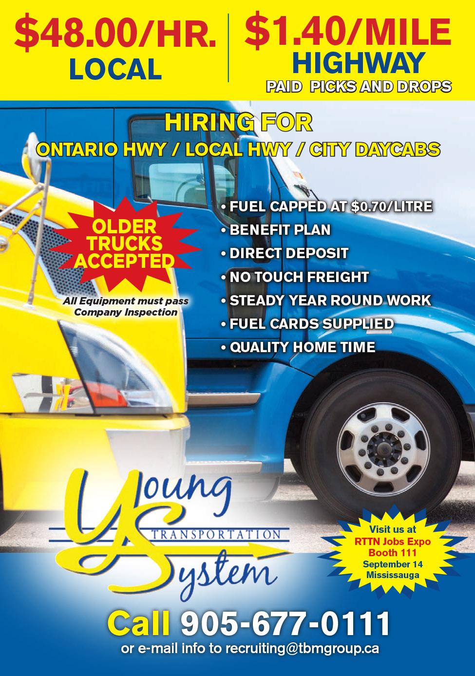 Young Transportation (Local Ontario  & Hwy. Runs)