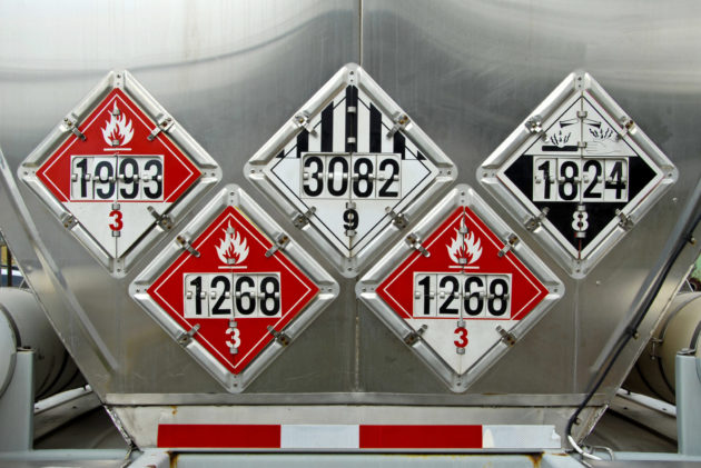 Hazardous materials tanker